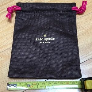 kate spade dust bag for jewelry never used